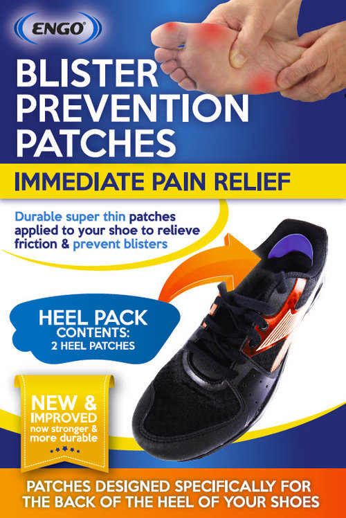 ENGO BLISTER PREVENTION PATCHES – HEEL